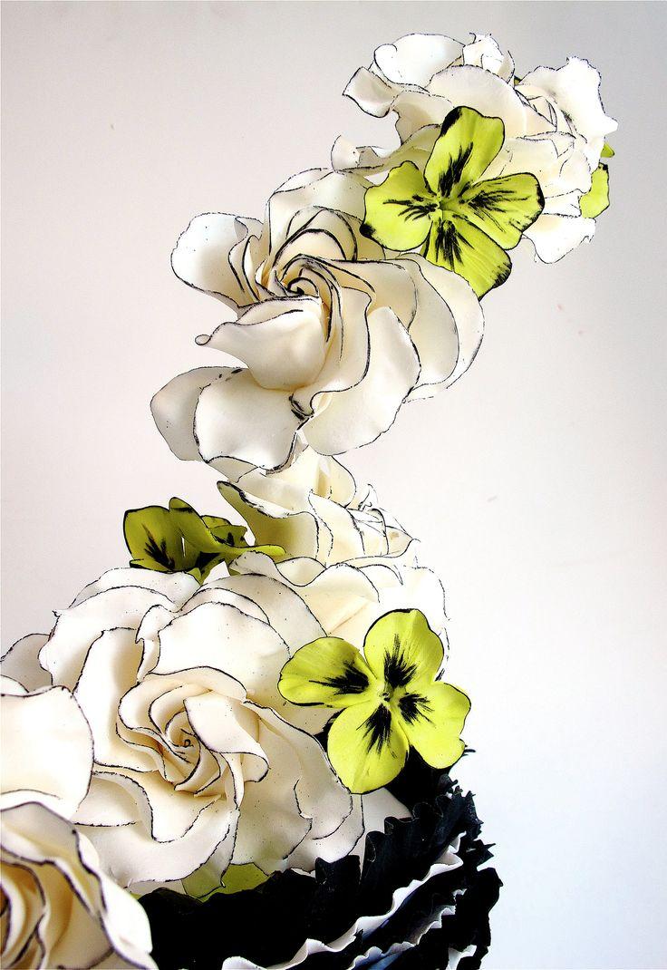 Maggie Austin - black edged sugar flowers