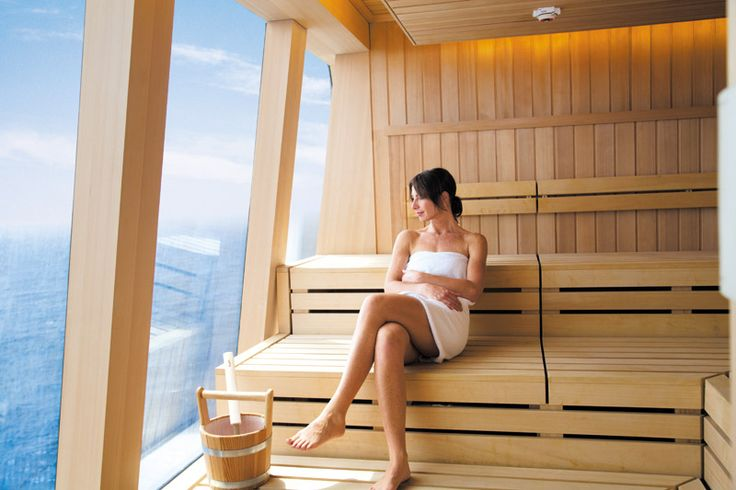 Sauna on a cruiseship.