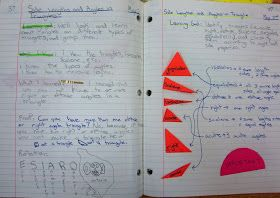 Types of Triangles journal entry @ Runde's Room
