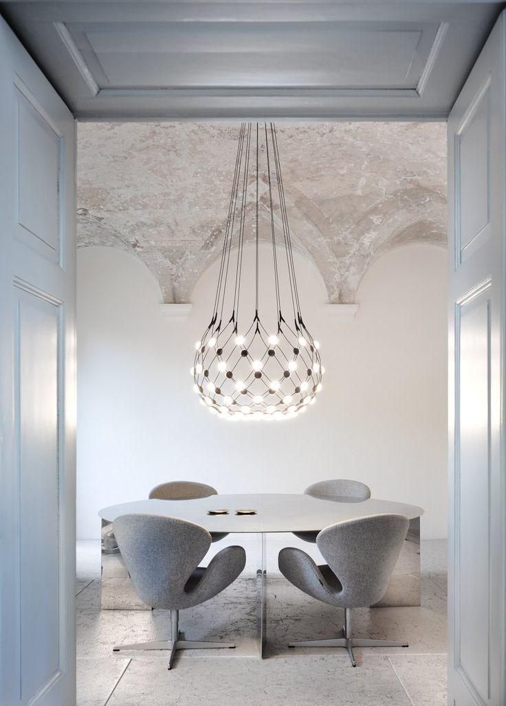 Luceplan hanglamp D86pi. Mesh Medium door Francisco Gomez Paz   www.designlinq.nl #mesh #luceplan #designverlichting #vergaderen #kantoorinrichting #designlinq