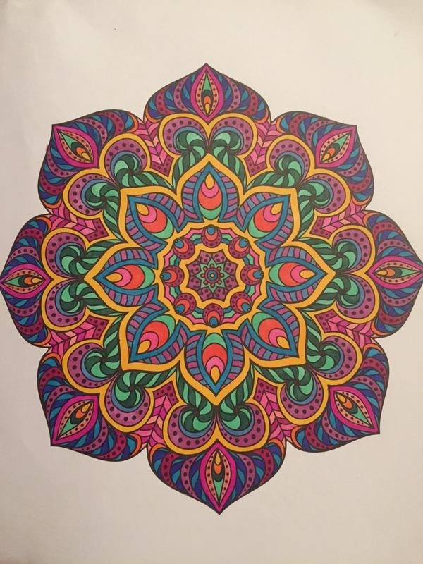 146 Best Images About Finished Mandalas In Color On