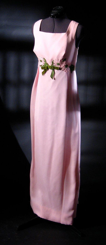 On Sale 1960s Pink Chiffon Dress 60s Pink Chiffon Prom