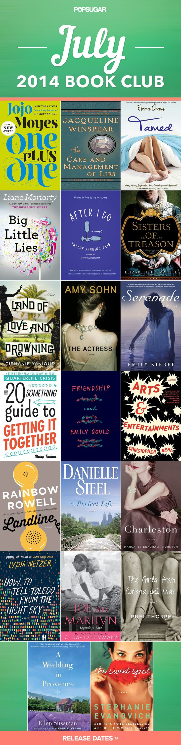 So many sexy, funny, sweet, and intriguing new books out this month! #July2014 #summerreading #beachreads