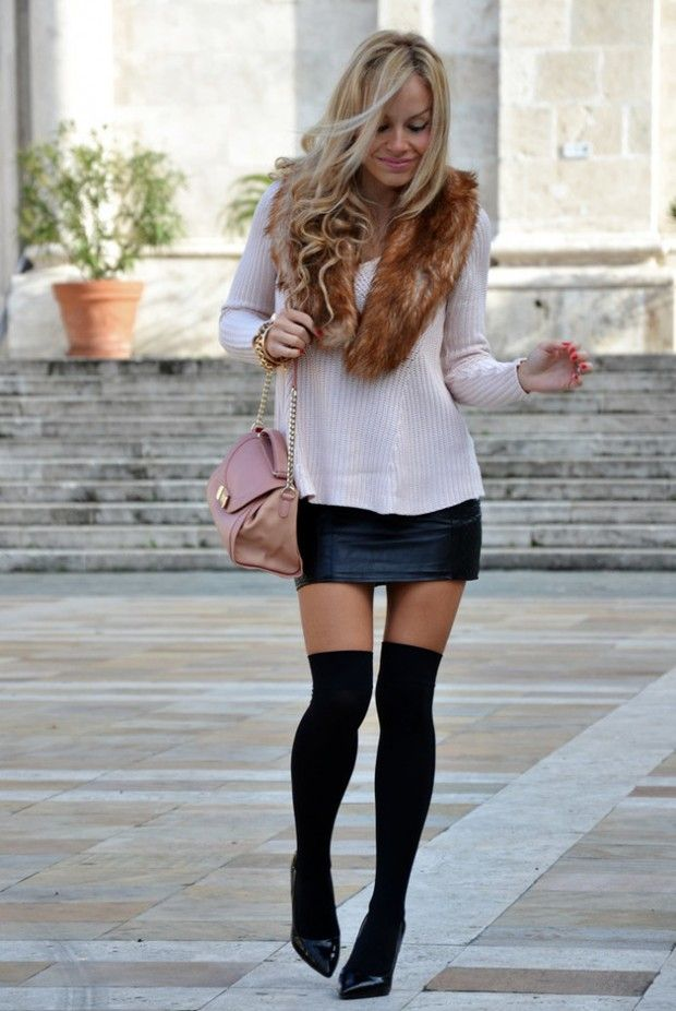 How to Wear Knee High Socks: 19 Stylish Outfit Ideas White Sweater. Blue  jean - 59 Best Fashion - Knee High Socks Images On Pinterest