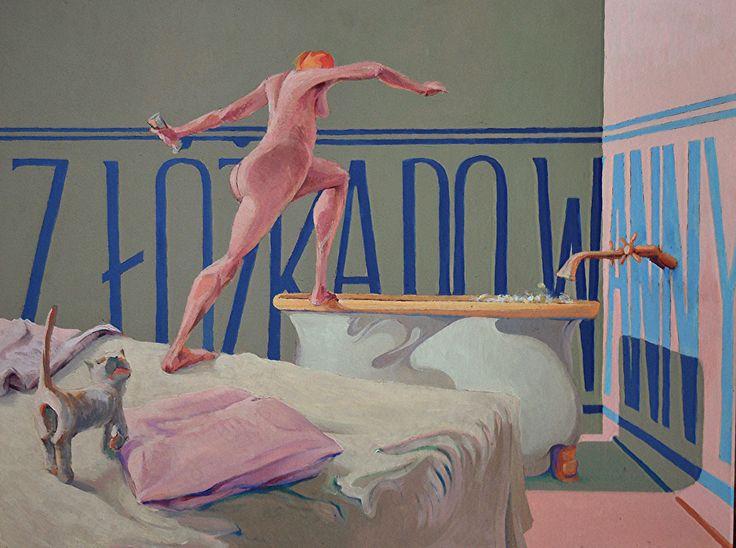 Z łóżka do wanny i z powrotem #acrylic #artforfun #tybur