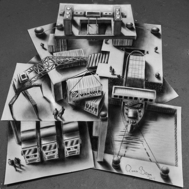 Quanti fogli per un'illusione, il disegno in 3D prende vita
