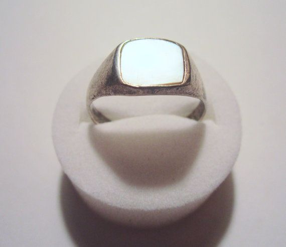 Vintage .925 silver and mother of pearl mens or by NewUsedVintage, $22.00