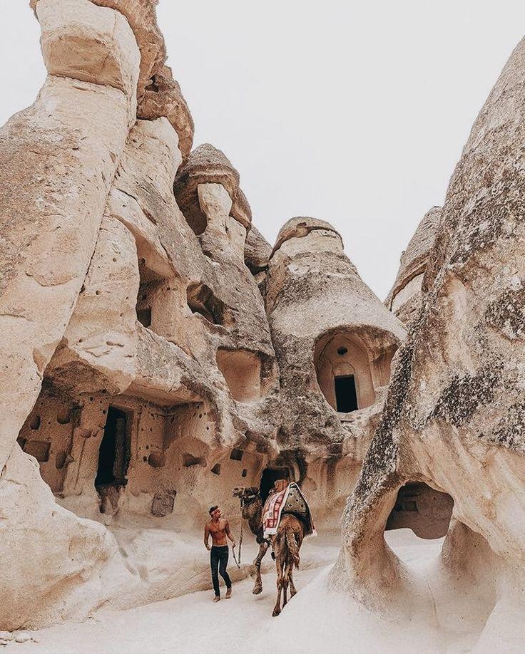 Turkey. The volcanic rock formations at Cappadocia