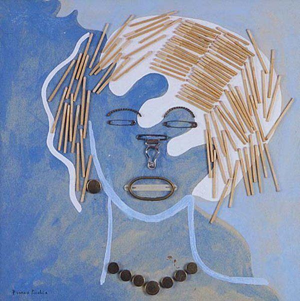 """""""La femme aux allumettes"""" Portrait de l'artiste français Francis Picabia -1925-"""
