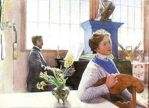 Carl Larsson - Son-In-Law Sings
