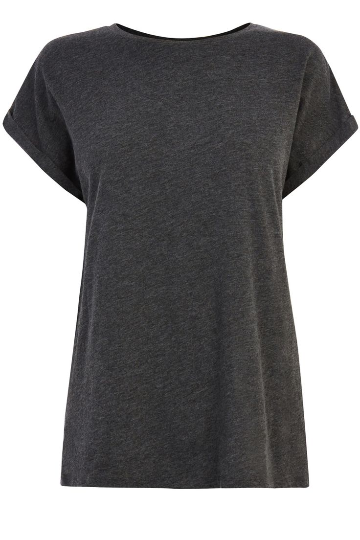 Tops | Grey CREW NECK BF TEE | Warehouse