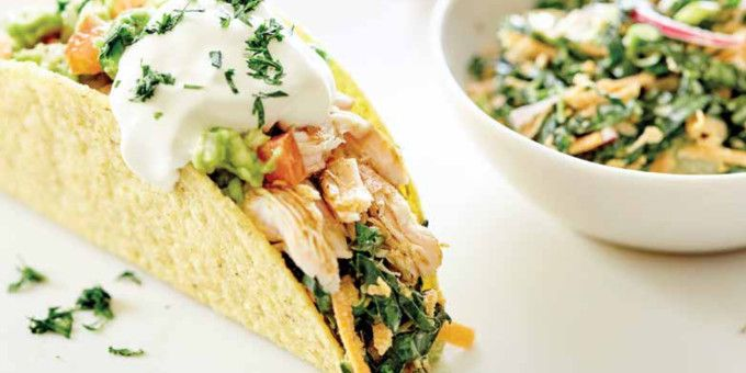 These fresh and fun Chicken Tacos with Kale-Slaw and Avocado Salsa from Superfood For Kids, is a great recipe to get the kids assembling their own dinner! – I Quit Sugar