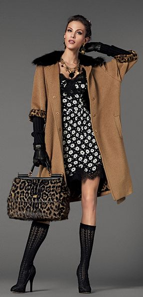 Dolce & Gabbana. Had to pin this because I just love the colors, different patterns and textures. Great coat too!