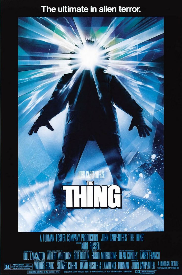 Another gem from 1982.  The Thing.  The first R-rated movie I ever saw.  And my all-time fave sci-fi horror film EVER.