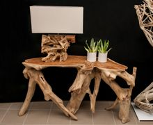 Console Teak Root - Natural  Find more at www.decord.gr #livingroom #wood #table #coffeetable #sidetable #ethnic #bali #decord