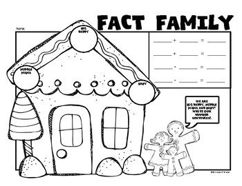 Fact Families (Gingerbread Fun) Math for First Grade. Posters, printable and interactive pieces! Fun. $