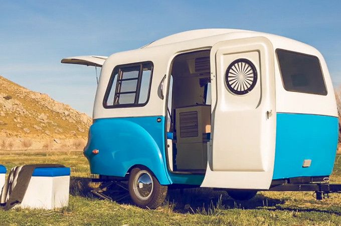 This new mini-trailer is the result of years of planning and design and is practically the only thing you'll need when camping from now on. The Happier Camper sports a retro design, and a cus…
