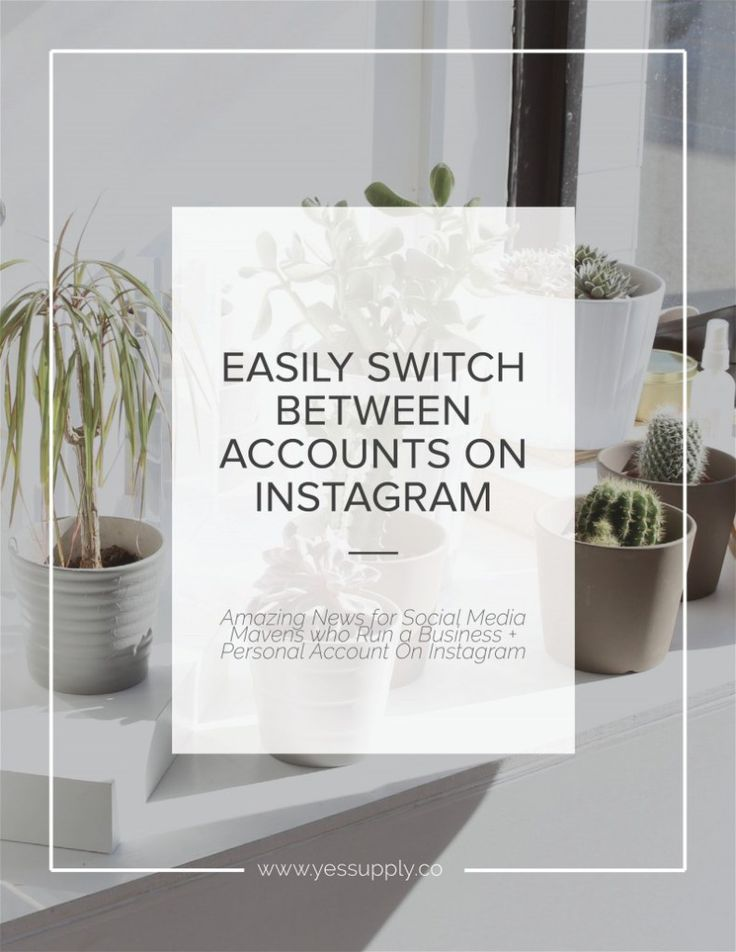 Switch Accounts on Social Media Instagram Page