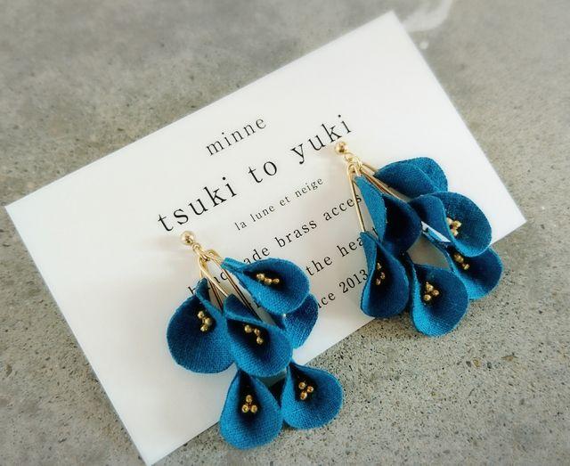 *hachibusaki flower*pierce&earring  A | ハンドメイドマーケット minne