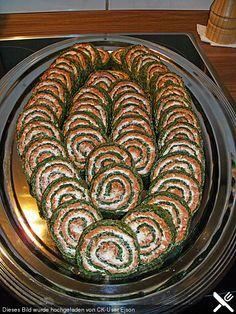 Spinatrolle mit Feta - Füllung, ein sehr schönes Rezept aus der Kategorie Kalt.