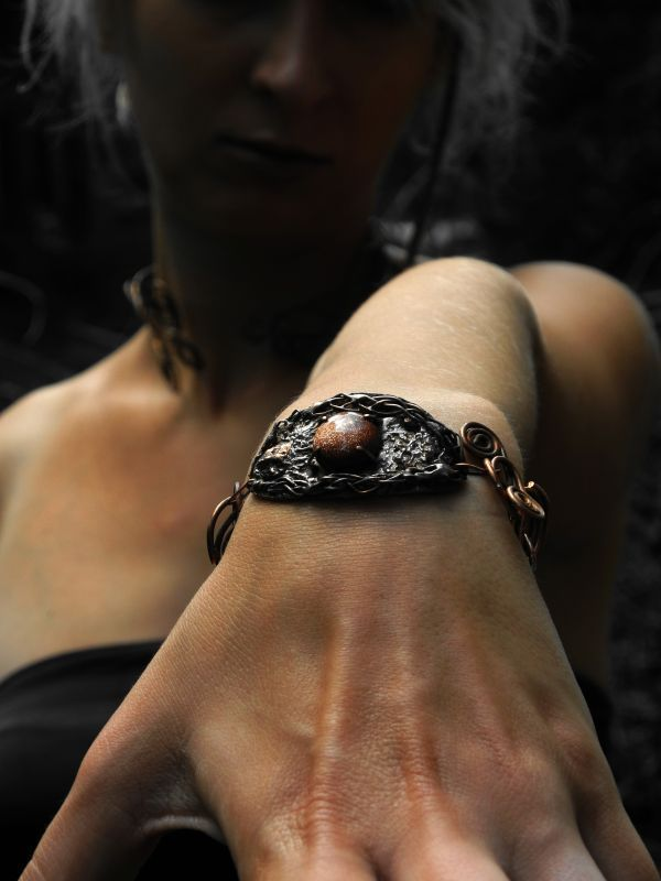 COPPER WITCH - BRACELET WITH GOLDFLUSS