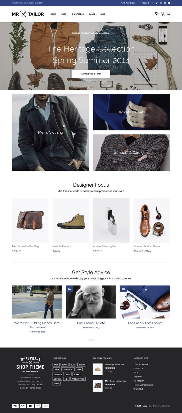 Mr. Tailor - Retina Responsive WooCommerce Theme #wordpress #web #shop