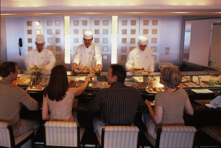 Sushi a bordo do Crystal Serenity - Crystal Cruises