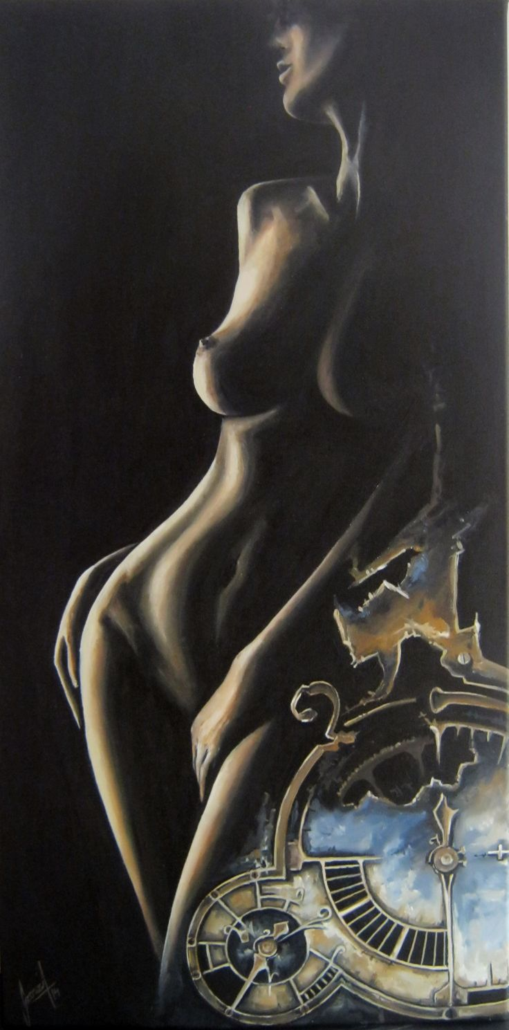 Time, nude, oil painting