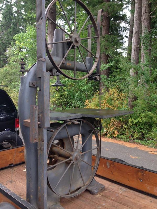 Vintage Cast Iron Bandsaw 36 Quot Wheels And Stands Nearly 8