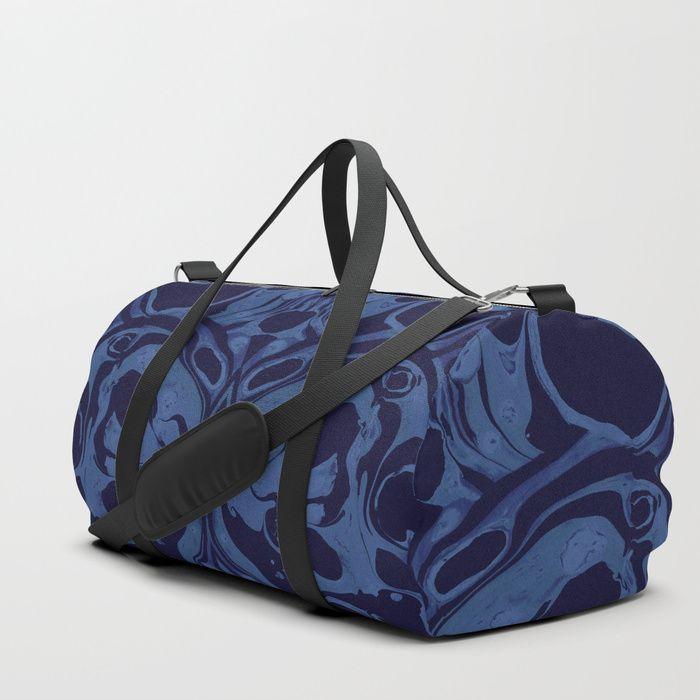 Creepy Marble Duffle Bag by greennatural | Society6