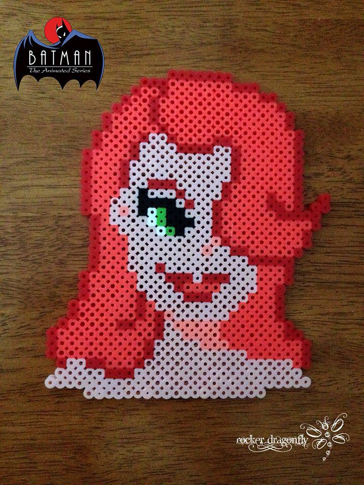 Pamela Isley : Poison Ivy  (From Batman: The Animatec Series) - Perler Bead Creation by RockerDragonfly