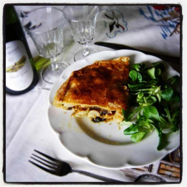 Blog a 4 mains: tourte salsifi champignon poulet