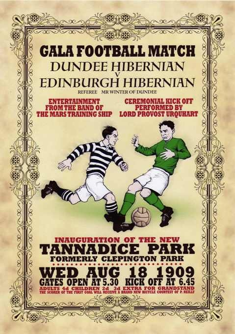 Old Dundee United centenary poster when they were still Dundee Hibernian