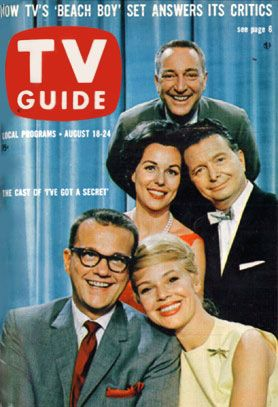 """I've Got a Secret"" game show host & panelists on cover of TV Guide 8/18/1962"