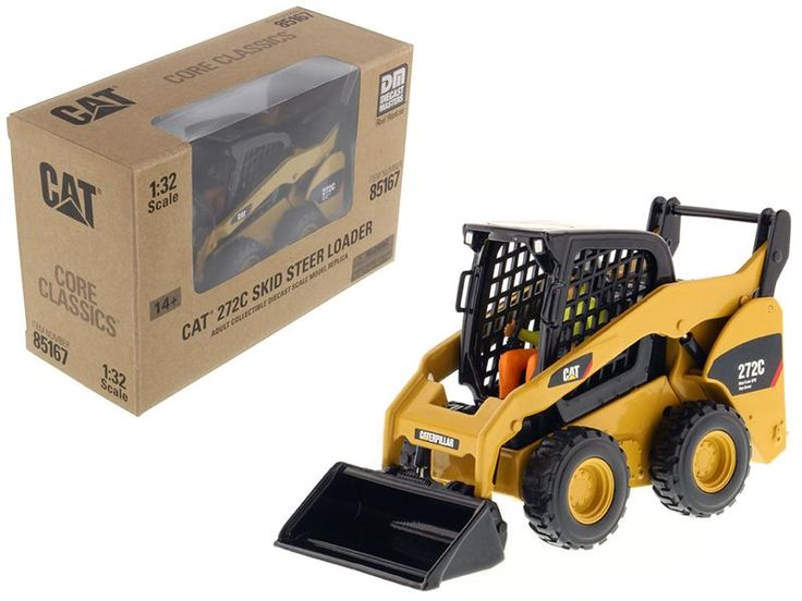 CAT Caterpillar 272C Skid Steer Loader With Working Tools and Operator Core Classic Series 1/32 Diecast Model by Diecast Masters
