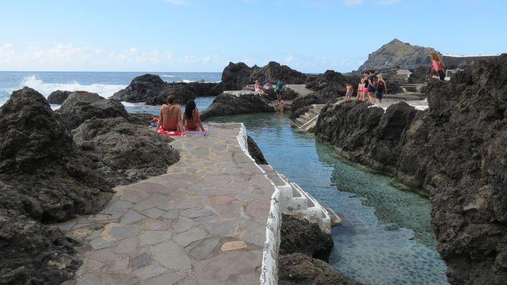 Canary Islands - Tenerife - Garachico - Piscinas naturales  - Natural po...