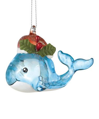 Take a look at this Christmas Whale Ornament by Grasslands Road on #zulily today!