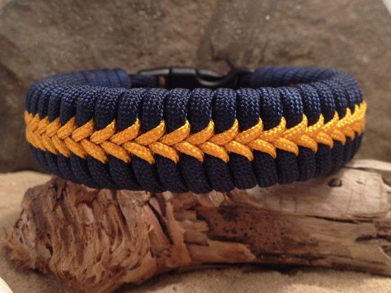 Fishtail Paracord Survival Bracelet with Center by Paraspirit, $18.00