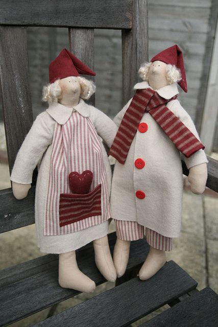Christmas winter pixies by countrykitty, via Flickr