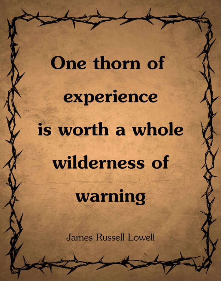 Experience, James Russell Lowell
