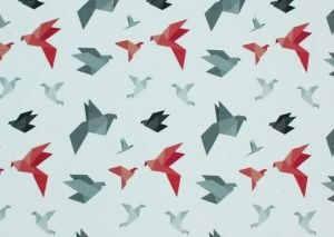 Origami - printti trikoolle Linnel Handmade - Majapuu - design Elina Vaahensalo