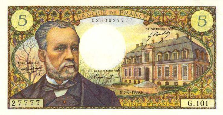 Collection Billet Banque de France - F.61 - 5 francs Pasteur