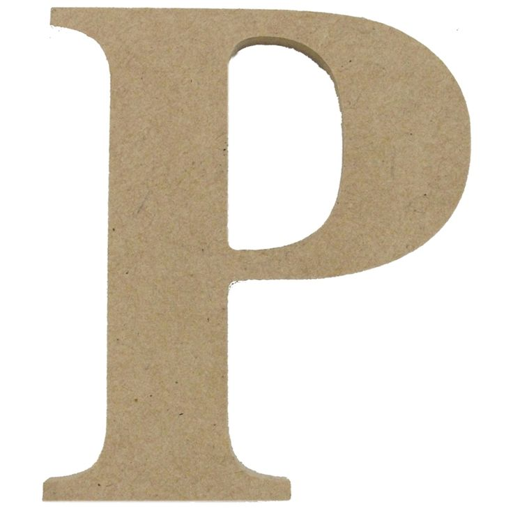 Boyle Medium Craftwood Letter P