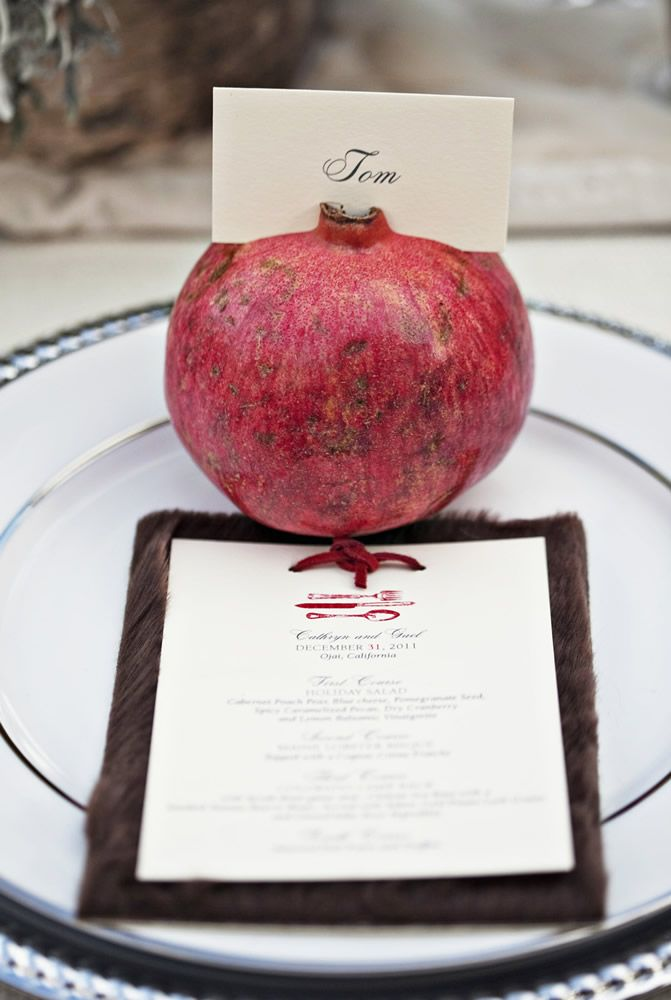 placecard. Cute Rosh Hashana Idea!