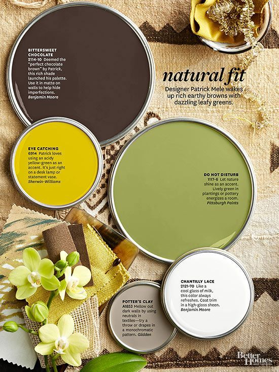 Were you inspired by the paint colors in the Better Homes and Gardens color story? We have the names of each color and advice for how to decorate to match these shades. From easy greens to a warm amber glow, and even blushing pinks, find your new wall color, and come up with your new decorating plan!