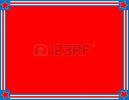 marco rojo patri tico blanco y azul o frontera con un fondo de rayas