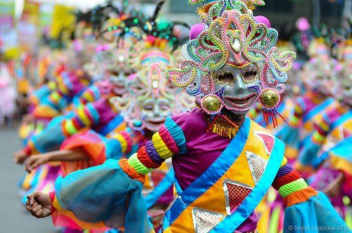What is behind the Masskara of the Masskara Festival of Bacolod?