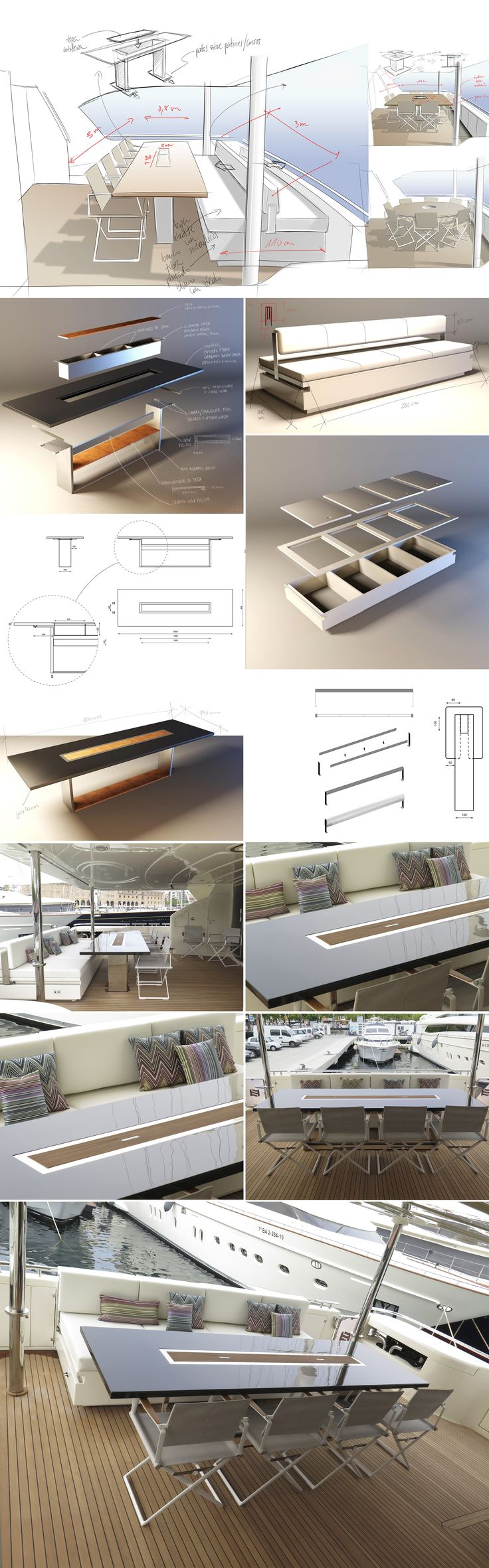 Yacht design - Ferretti 115 refit by Ubica-id