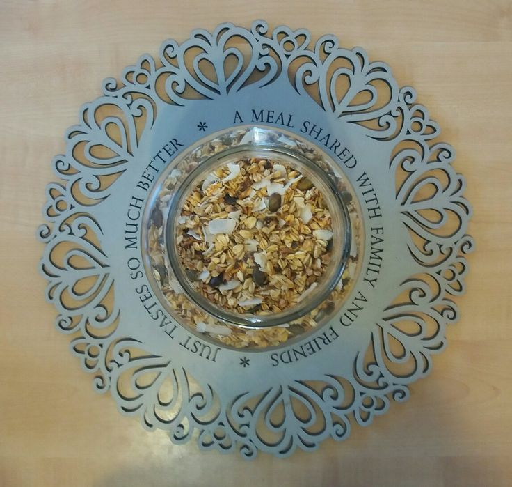 Healthy home made granola!  Sugar free! Check out more on our blog #link in bio