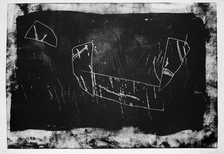 """Witold Winek """"Limbo"""", 100X70, relief print, 2015"""